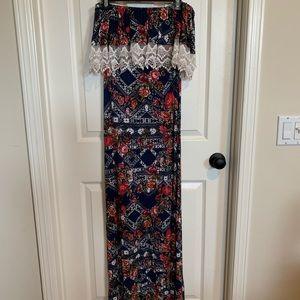 Maxi tube top dress